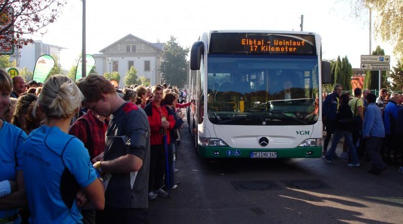 Elbtal-Weinlauf – Busshuttle ab Meissen Busbahnhof