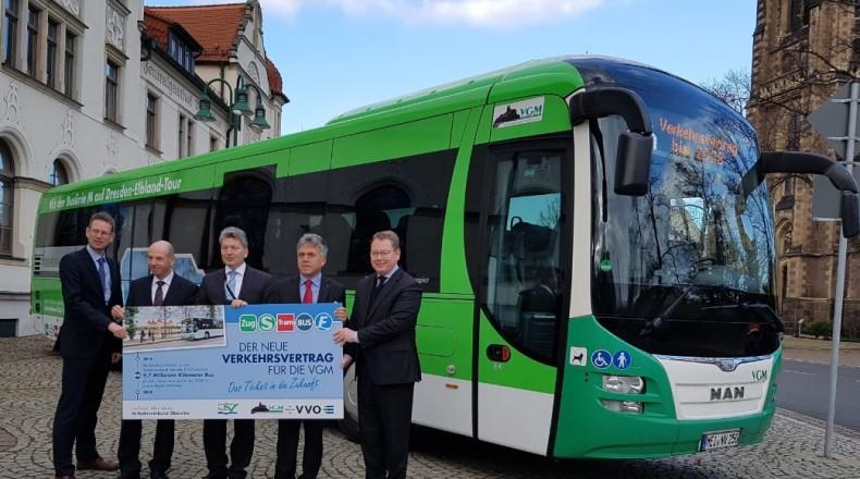 Stabiler Busverkehr im Landkreis Meissen bis 2028
