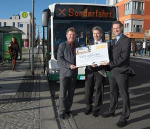 VVO_OB Bert Wendsche, Landrat Arndt Steinbach und Andreas Hemmersbach, GF der VGM