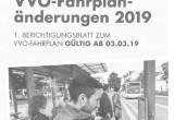 Fahrplananpassungen am 03.03.2019