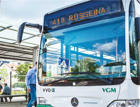 Bus fährt ab 04.11.2019 bis Rüsseina