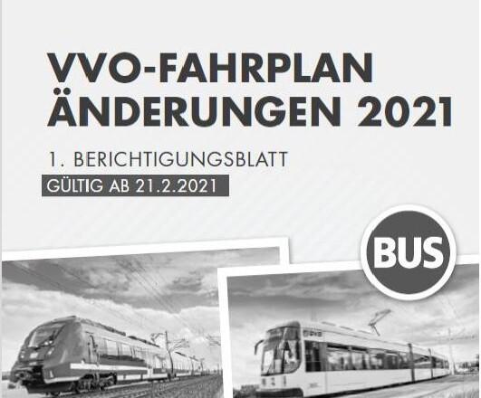 Fahrplanänderung ab 21.02.2021
