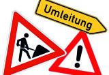 Vollsperrung  des Schachtberges in Scharfenberg