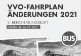 Fahrplanänderung ab 26.09.21